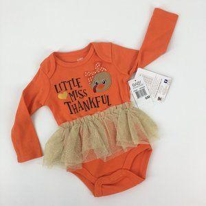 Baby Essentials Little Miss Thankful Bodysuit 6M